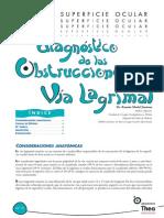 Diagnóstico de Las Obstrucciones de La Vía Lagrimal