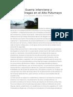 Dragas en El Alto Putumayo