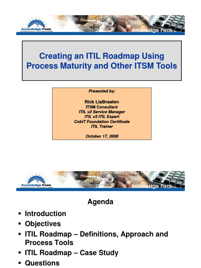 Creating An Itil Roadmap Using Process Maturity And Other1119 Itil