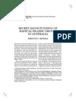 2007 Secret Saudi Funding of Radical Islamic Groups in Australia