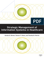 Strategic management of information systems in healthcare