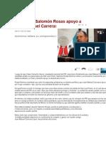 22/01/2015 Manifiesta Salomón Rosas apoyo a  Juan Manuel Carreras como candidato