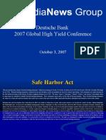 REVISED DB Hi Yield Conf October 03 2007