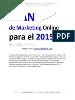 Plan de Marketing Online de Una Empresa Ejemplo Plantilla