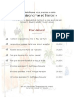 Carte Hiver 2015 Hôtel**** Restaurant de La Corderie Royale