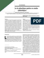 Analisis Estadistico de Polimorfismos Geneticos en Estudios Epidemiologicos