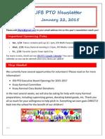 JFB PTO Newsletter 1-22-15