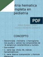 Contantes Hematologicas en pediatria