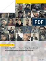 In the World Press Freedom Day, Mass Violations Committed Against Journalists in Syria