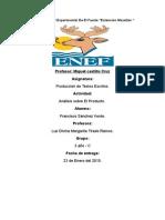 Analisis de La Linea Del Tiempo. FranciscoSanchezVerde