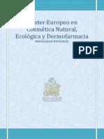MASTER COSMETICA NATURAL Y ECOLOGICA Y DERMOFARMACIA