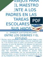 5 Consejos Para Que Los Maestros Orienten a Los Padres de Las Tareas Escolares de Sus Hijos. Omseto2013