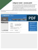 (Ayuda) Configurar router + access point - Taringa!