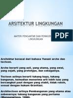 ARSITEKTUR LINGKUNGAN-pengantar