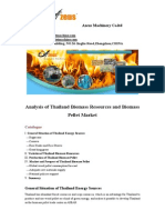 Analysis of Thailand Biomass Resources and Biomass Pellet Market