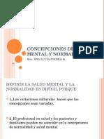 Concepciones de Salud Mental y Normalidad