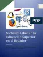 Software Libre en La Educación Superior en El Ecuador