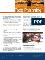 Fact Sheet - Food Poisoning -And- Food Poisoning Bacteria