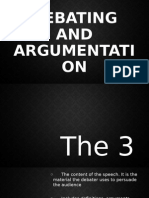 Debating and Argumentation