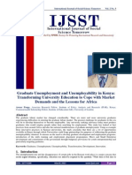 Graduate Unemployment and Unemployability in Kenya - IJSST 2(3) 1-12-Libre