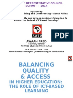 Quality vs Equity, Role of ICT Based Learning - AWAAH Fred, AASU.ppt