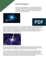 Pulsare, Schwarze L?cher Und Quasare