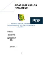 Calentamiento Global - monografia