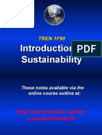 Intro to Sustainability