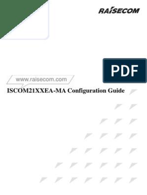 Raisecom ISCOM21XXEA-MA Configuration Guide 201106 | Port
