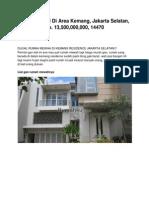 Rumah Dijual Di Area Kemang, Jakarta Selatan, Rp. 13,500,000,000, 14470 - Www.rumahku.com