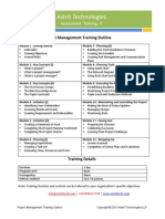 Project Management Training Curriculum