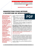 MANIFESTONS POUR OBTENIR  L'OUVERTURE DE NÉGOCIATIONS !