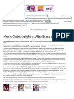 Music Club's Delight at Alba Brass Show - The Galloway Gazette