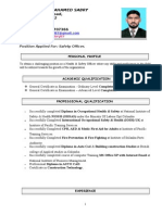 Cv of Safety Officer