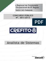 Idecan 2013 Crefito 8 Regiao Pr Analista de Sistemas Prova