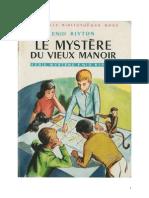 Blyton Enid Série Mystère 1 Le mystère du vieux manoir 1949 Barney The Rockingdown Mystery.doc