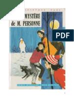 Blyton Enid Série Mystère 5 Le mystère de Monsieur Personne 1956 Barney The Rat-A-tat Mystery.doc