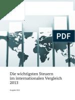 2013 Steuern Internationaler Vergleich