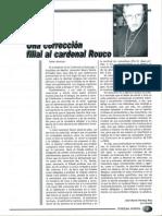 Corrección a Rouco. José María Permuy. FN 26-05-2001