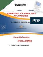 1. Aplicaciones Plan Financiero