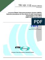 Etsi Tr 101 112 (Umts)