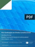 TEORIA GERAL DO CONTROLE DE CONSTITUCIONALIDADE