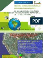 2012 Proceso de Zonificacion Ecologica Economica y Ordenamiento Territorial de La Region Puno