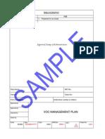 Sample VOC Plan