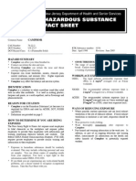 CAMPHOR HAZARDOUS SUBSTANCE FACT SHEET