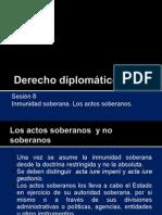 Derecho diplomático 8 - Inmunidad - aspecto sustancial.ppt