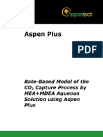 Rate Based MEA MDEA Model