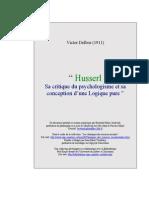 [Delbos] Husserl Sa Critique Du Psychologisme Et s