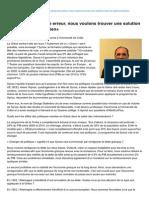 Alterecoplus.fr-un Grexit Serait Une Erreur Nous Voulons Trouver Une Solution Dans Le Cadre Européen