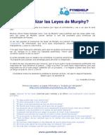 Como Utilizar Las Leyes de Murphy